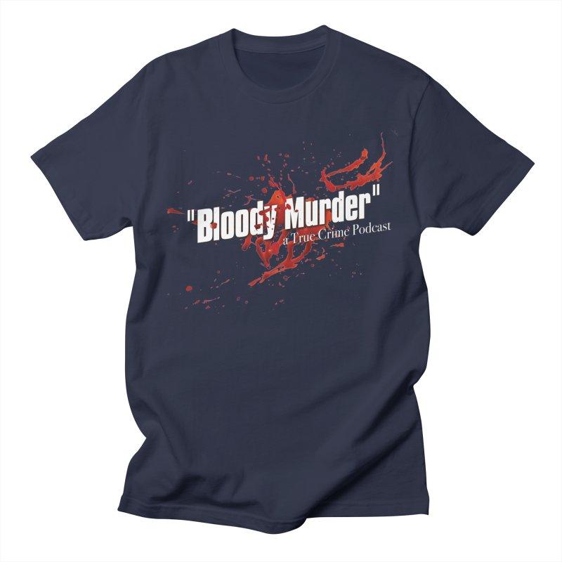 Bloody Murder Bleeding Logo White Men's Regular T-Shirt by Bloody Murder's Artist Shop