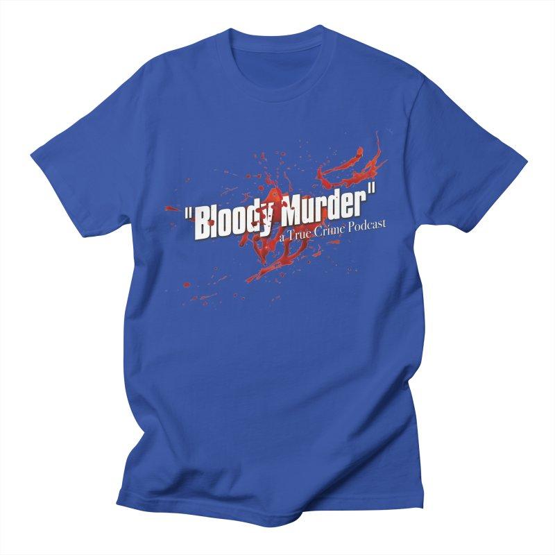 Bloody Murder Bleeding Logo White Men's Regular T-Shirt by bloodymurder's Artist Shop