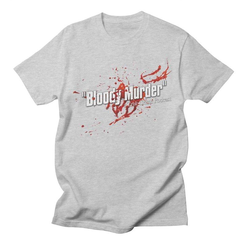 Bloody Murder Bleeding Logo White Men's T-Shirt by bloodymurder's Artist Shop
