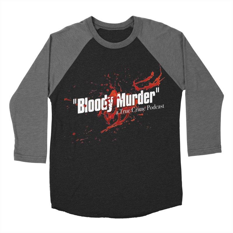 Bloody Murder Bleeding Logo White Men's Baseball Triblend T-Shirt by bloodymurder's Artist Shop