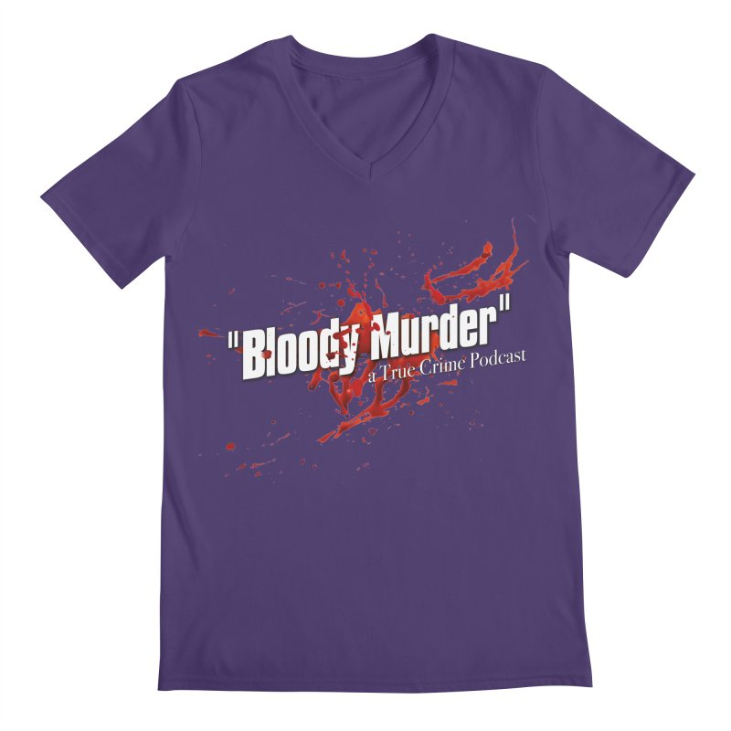Bloody Murder Bleeding Logo White Men's V-Neck by bloodymurder's Artist Shop
