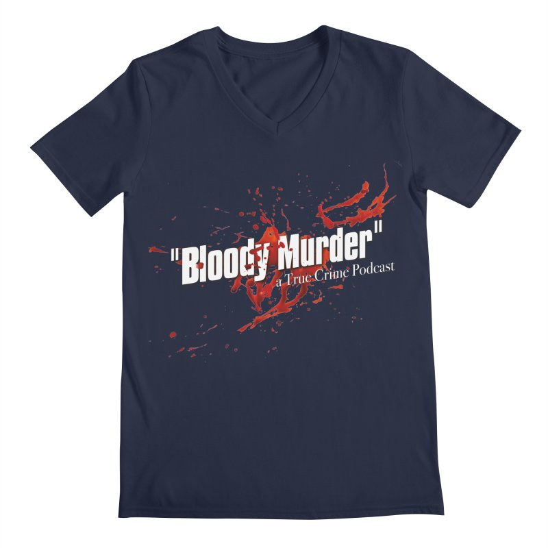 Bloody Murder Bleeding Logo White Men's Regular V-Neck by bloodymurder's Artist Shop