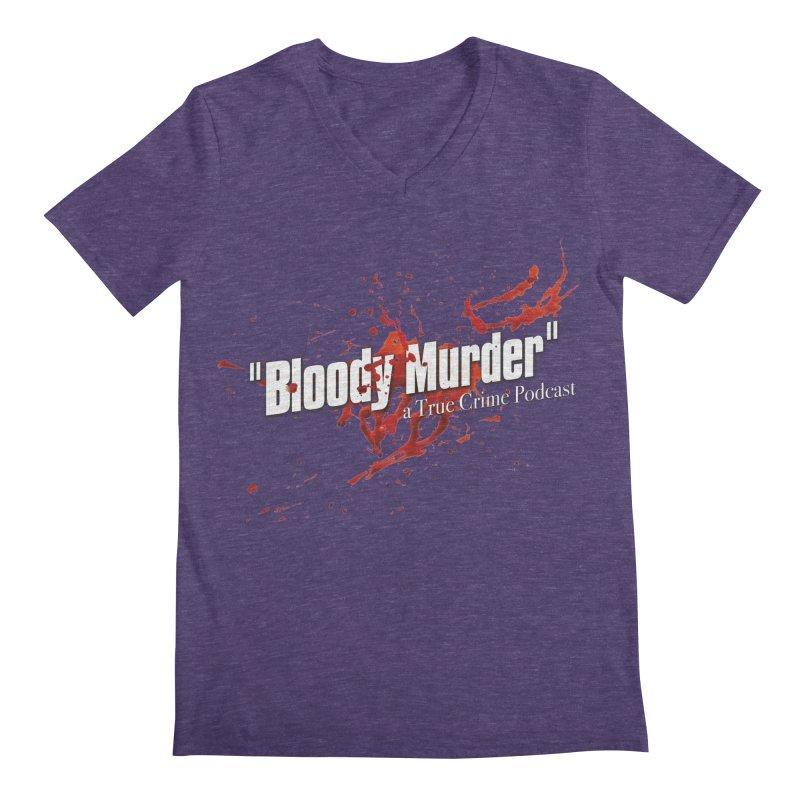 Bloody Murder Bleeding Logo White Men's Regular V-Neck by Bloody Murder's Artist Shop