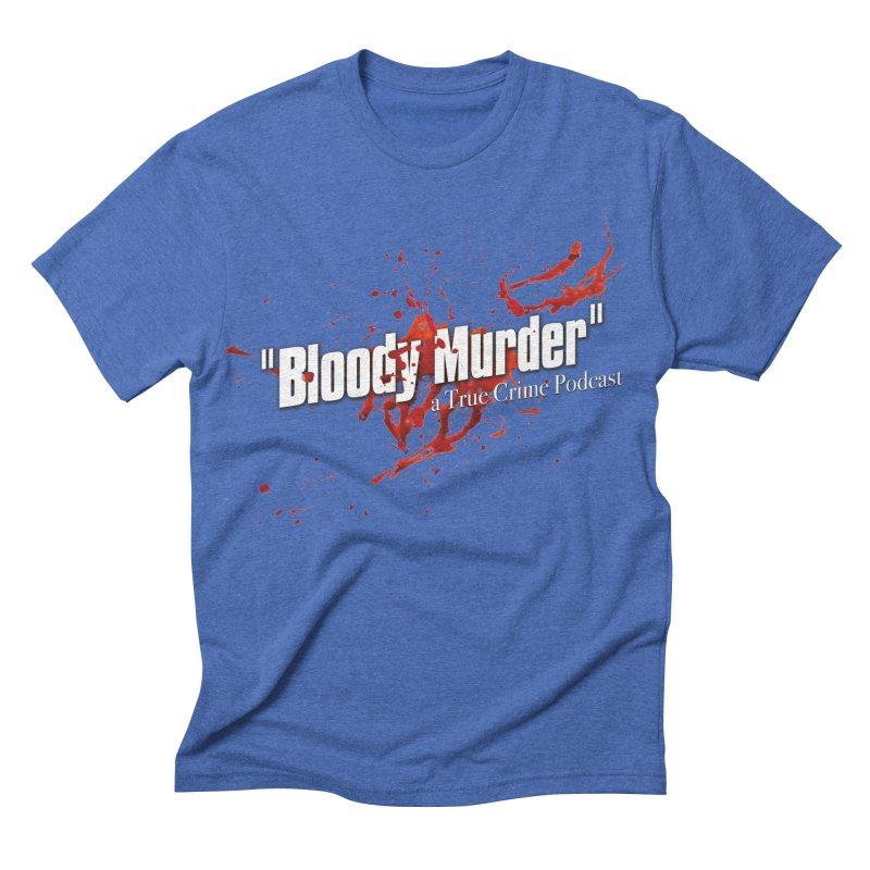 Bloody Murder Bleeding Logo White Men's Triblend T-shirt by bloodymurder's Artist Shop