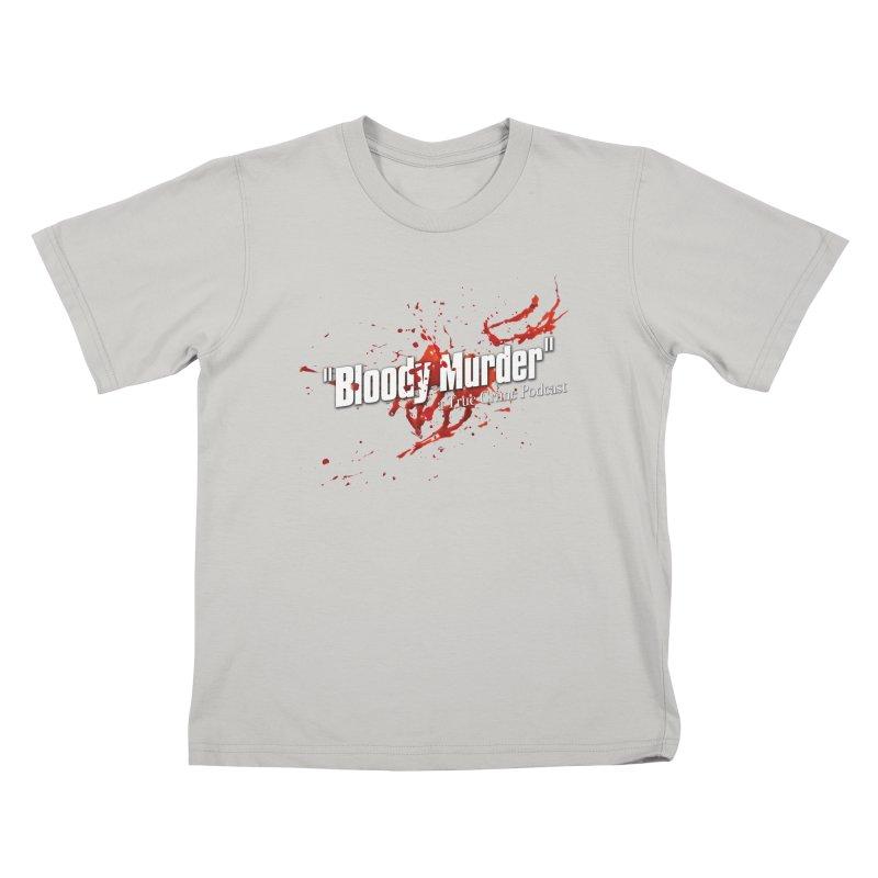 Bloody Murder Bleeding Logo White Kids T-shirt by bloodymurder's Artist Shop