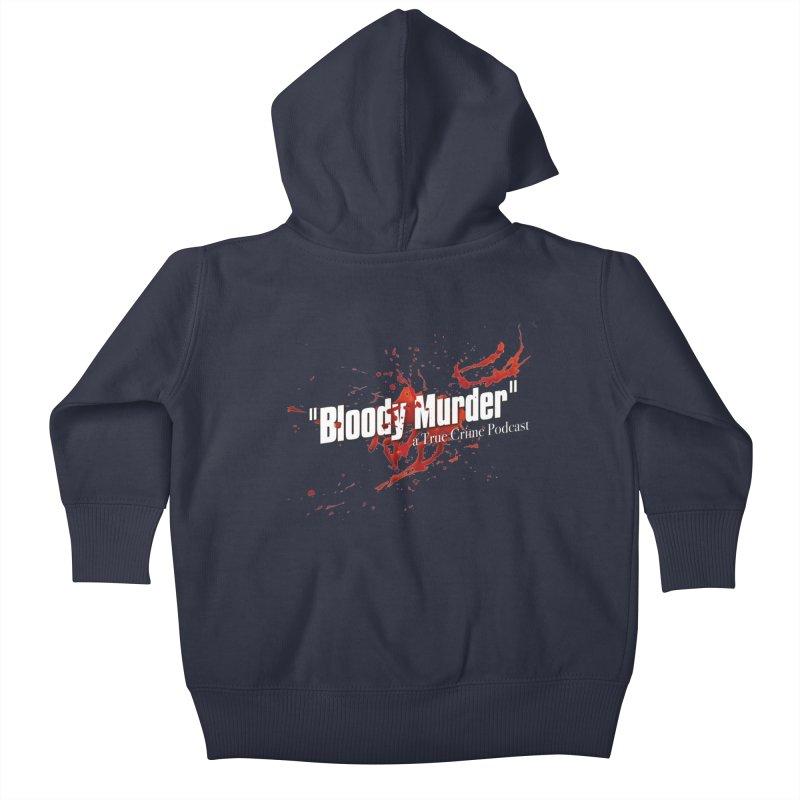 Bloody Murder Bleeding Logo White Kids Baby Zip-Up Hoody by Bloody Murder's Artist Shop