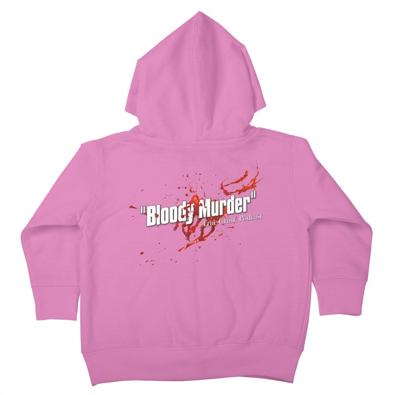 Bloody Murder Bleeding Logo White Kids Toddler Zip-Up Hoody by Bloody Murder's Artist Shop