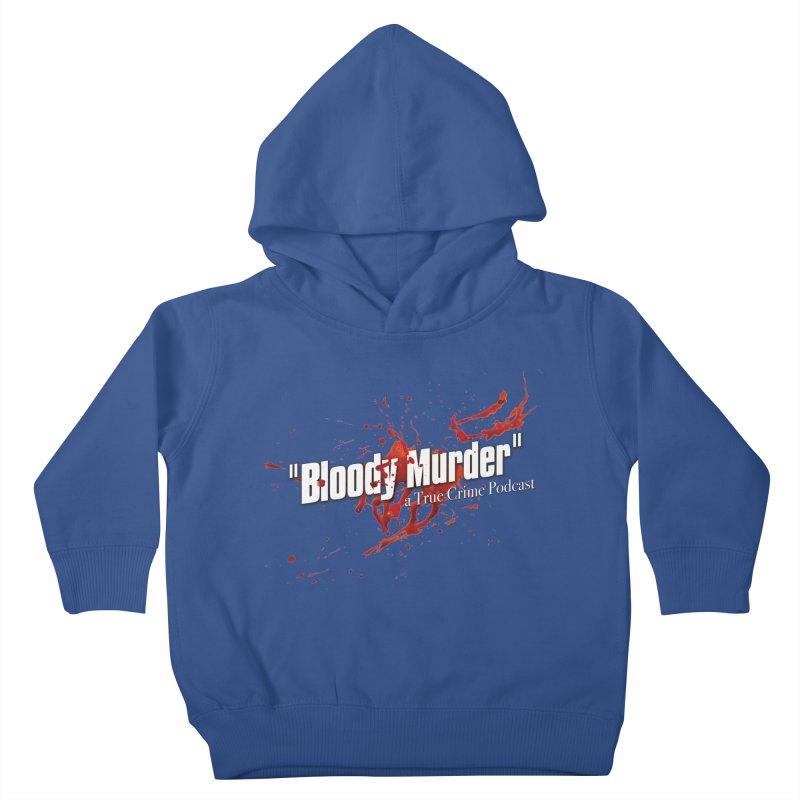 Bloody Murder Bleeding Logo White Kids Toddler Pullover Hoody by Bloody Murder's Artist Shop