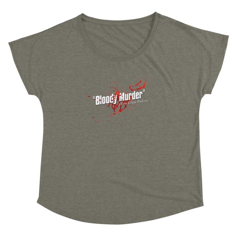 Bloody Murder Bleeding Logo White Women's Dolman Scoop Neck by bloodymurder's Artist Shop
