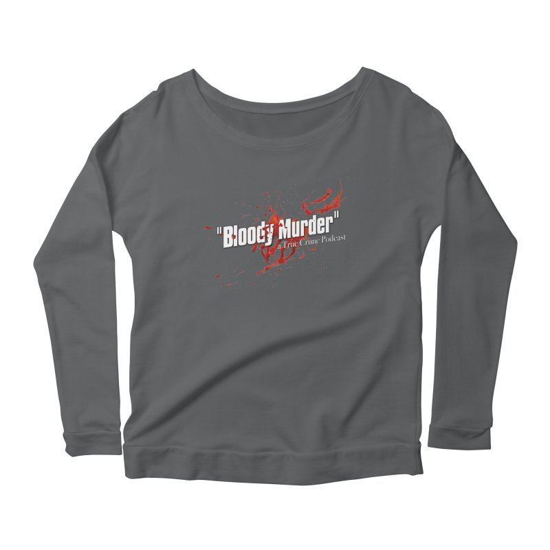 Bloody Murder Bleeding Logo White Women's Scoop Neck Longsleeve T-Shirt by bloodymurder's Artist Shop