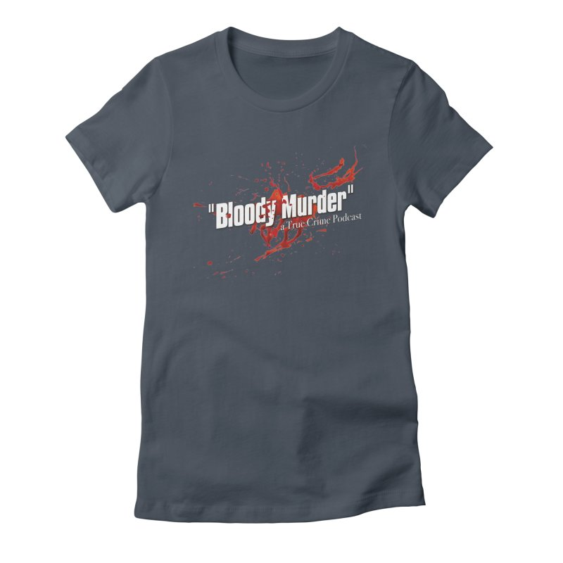Bloody Murder Bleeding Logo White Women's T-Shirt by Bloody Murder's Artist Shop