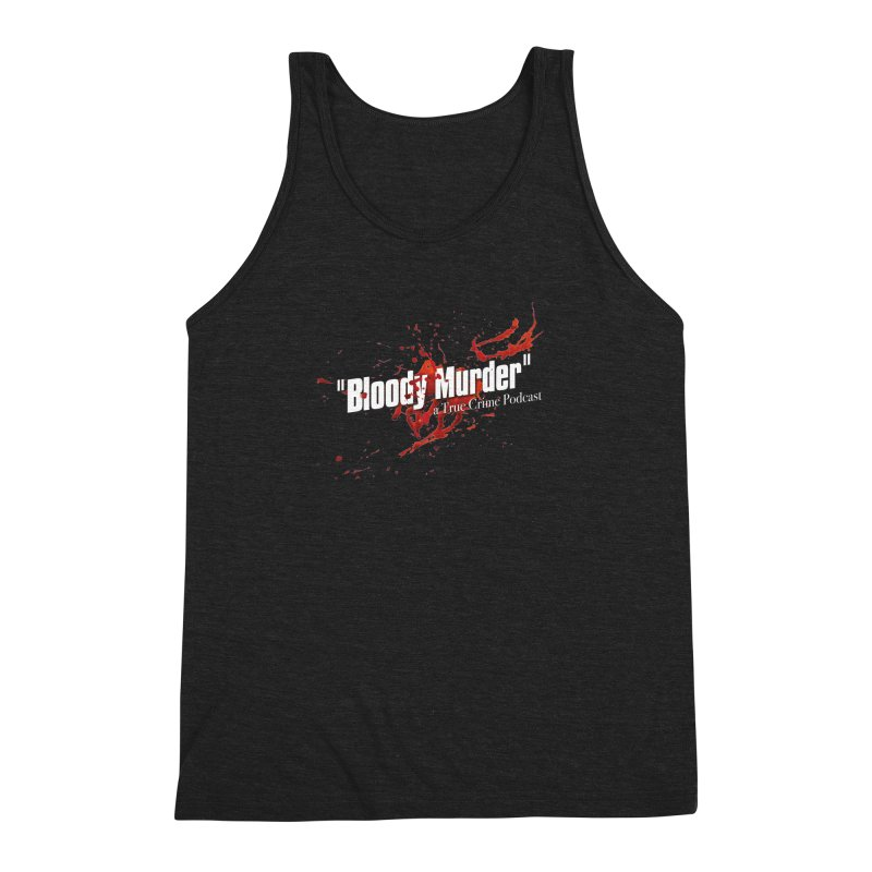 Bloody Murder Bleeding Logo White Men's Triblend Tank by bloodymurder's Artist Shop