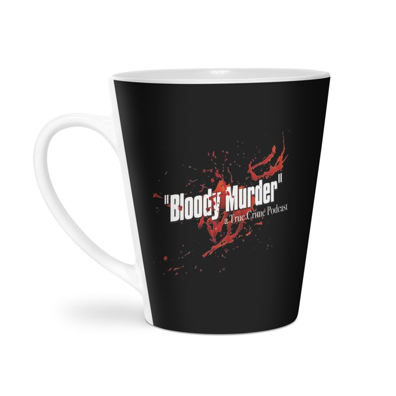 Bloody Murder Bleeding Logo White Accessories Latte Mug by Bloody Murder's Artist Shop
