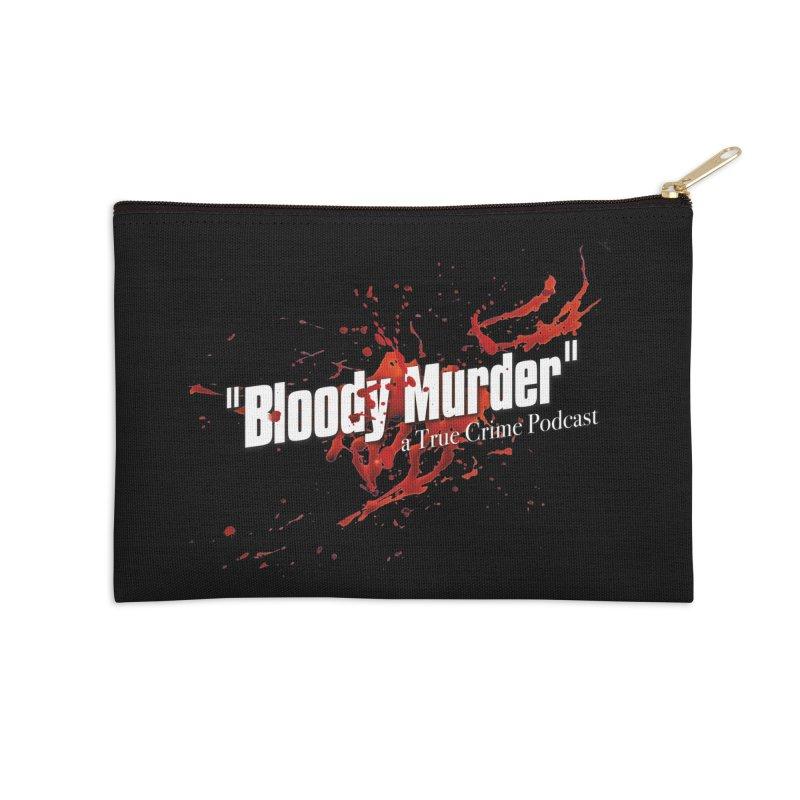 Bloody Murder Bleeding Logo White Accessories Zip Pouch by bloodymurder's Artist Shop