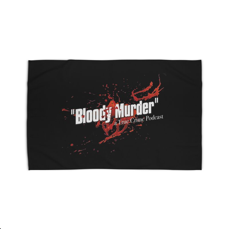 Bloody Murder Bleeding Logo White Home  by bloodymurder's Artist Shop