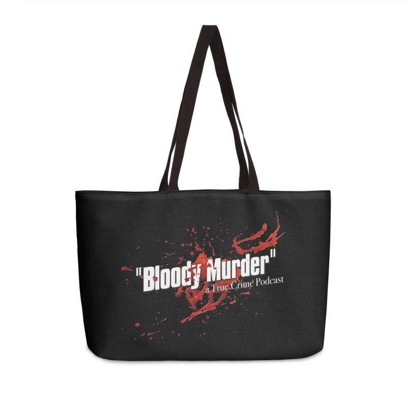 Bloody Murder Bleeding Logo White Accessories Bag by bloodymurder's Artist Shop