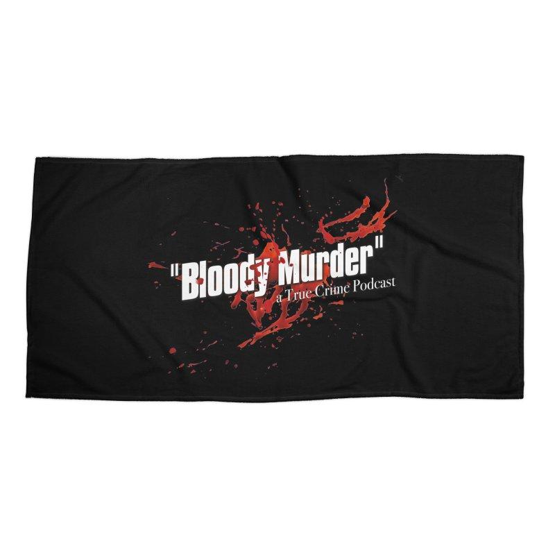 Bloody Murder Bleeding Logo White Accessories Beach Towel by bloodymurder's Artist Shop