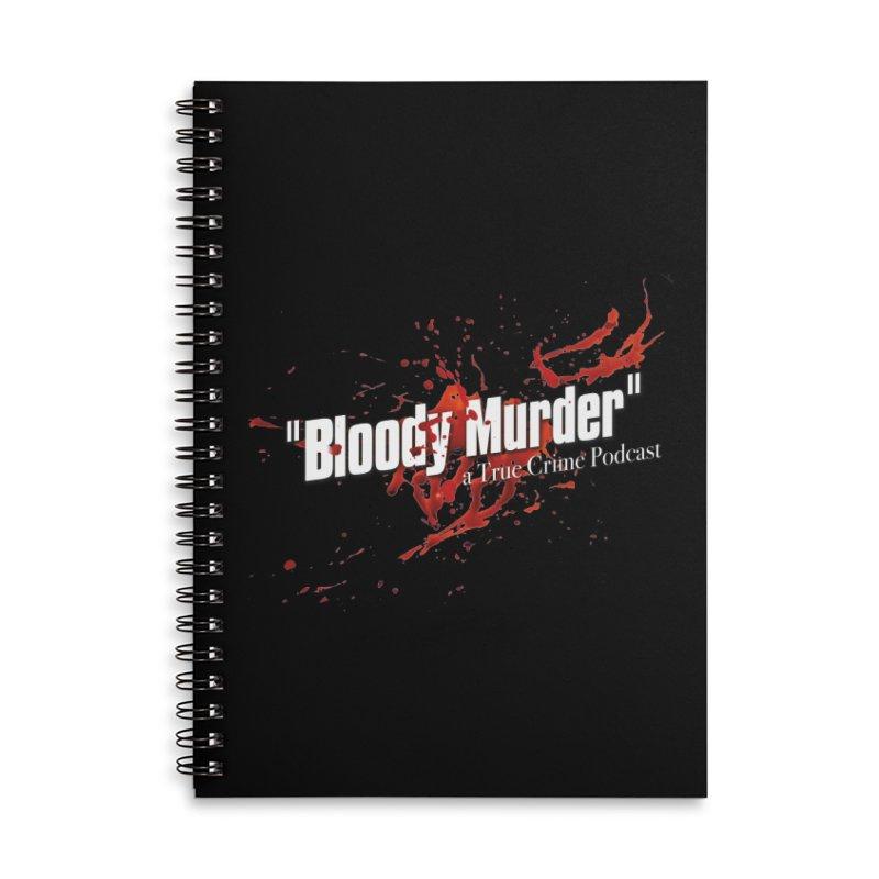 Bloody Murder Bleeding Logo White Accessories Lined Spiral Notebook by Bloody Murder's Artist Shop