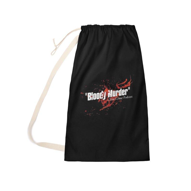 Bloody Murder Bleeding Logo White Accessories Bag by Bloody Murder's Artist Shop