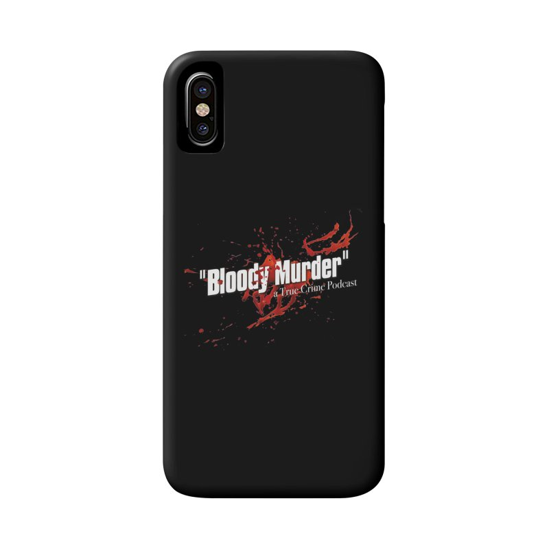 Bloody Murder Bleeding Logo White Accessories Phone Case by bloodymurder's Artist Shop