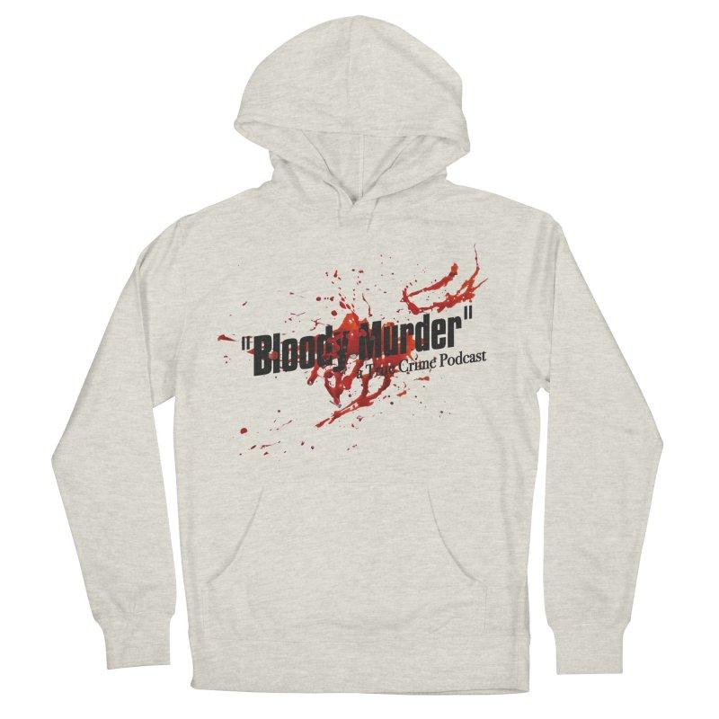 Bloody Murder Bleeding Logo Black Men's French Terry Pullover Hoody by bloodymurder's Artist Shop
