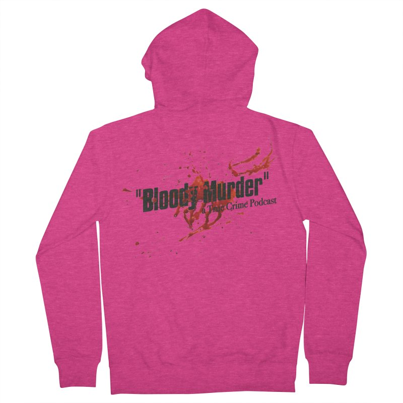 Bloody Murder Bleeding Logo Black Women's Zip-Up Hoody by bloodymurder's Artist Shop