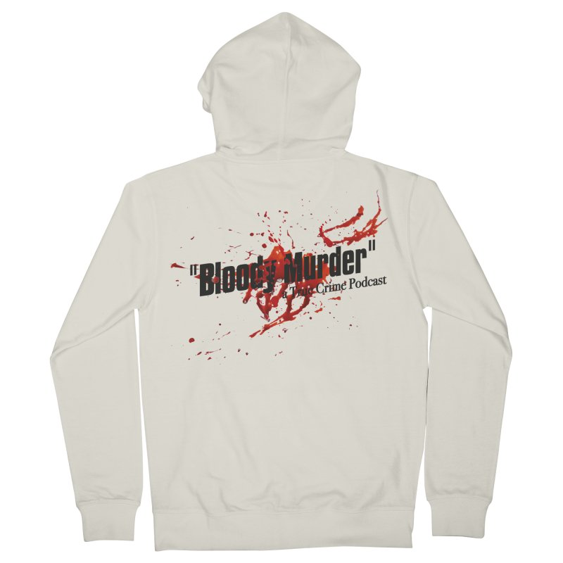 Bloody Murder Bleeding Logo Black Men's French Terry Zip-Up Hoody by Bloody Murder's Artist Shop