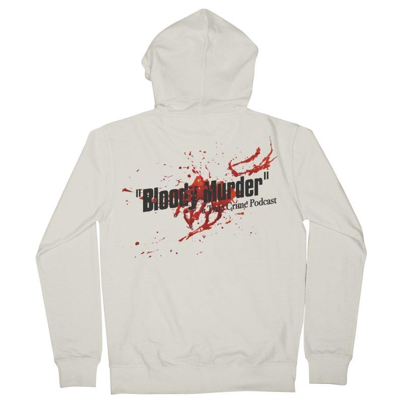 Bloody Murder Bleeding Logo Black Men's French Terry Zip-Up Hoody by bloodymurder's Artist Shop