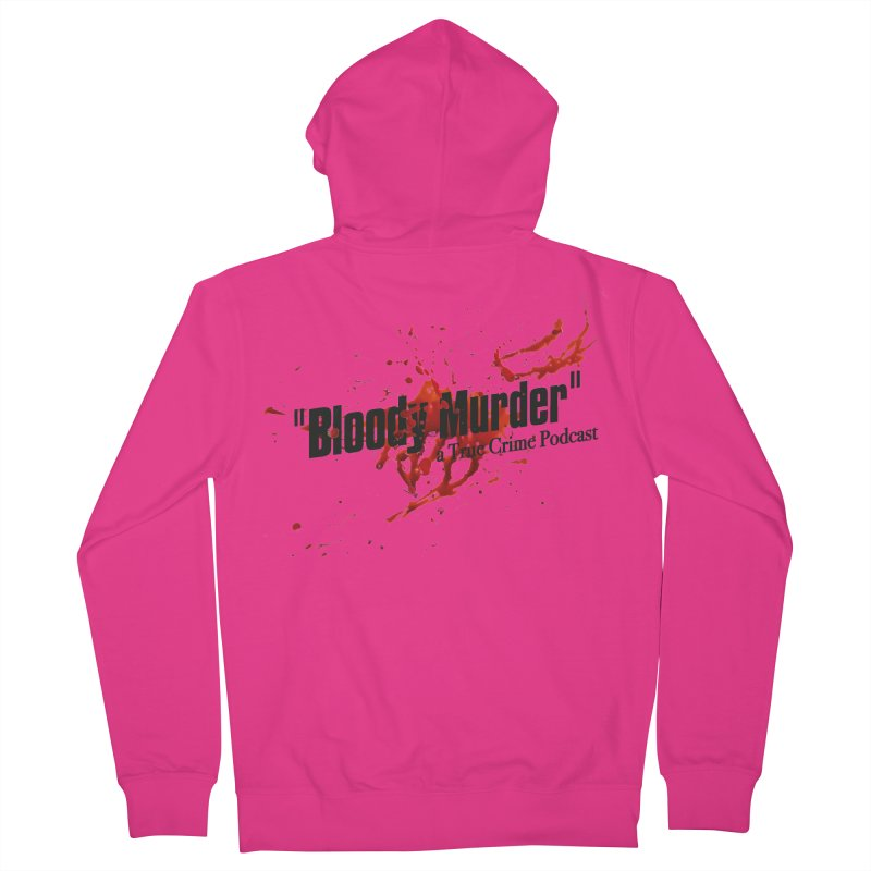 Bloody Murder Bleeding Logo Black Men's Zip-Up Hoody by bloodymurder's Artist Shop