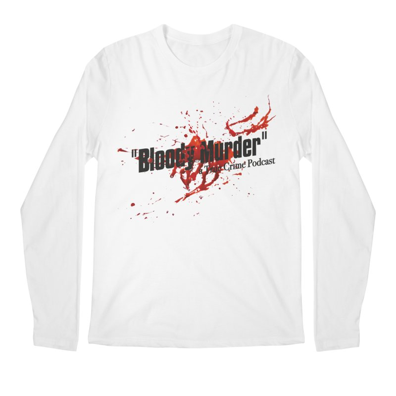 Bloody Murder Bleeding Logo Black Men's Regular Longsleeve T-Shirt by bloodymurder's Artist Shop