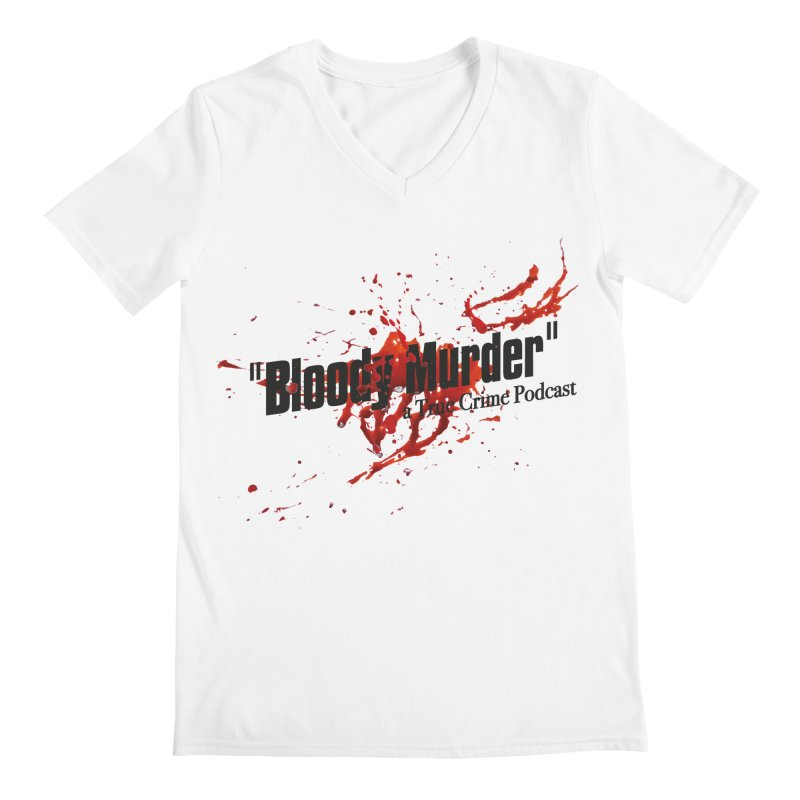 Bloody Murder Bleeding Logo Black Men's V-Neck by bloodymurder's Artist Shop