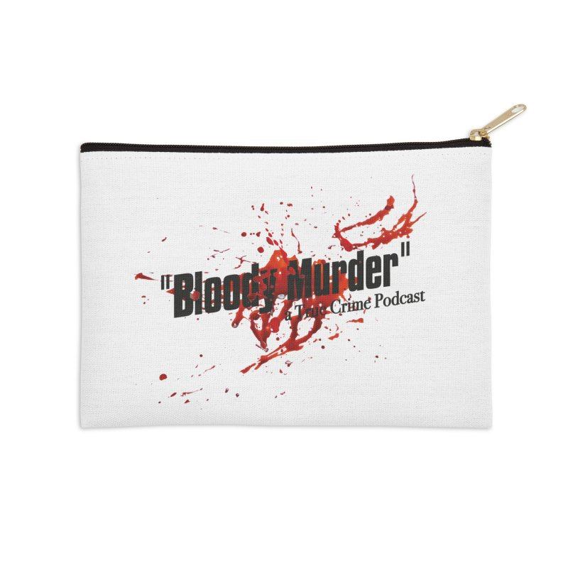 Bloody Murder Bleeding Logo Black Accessories Zip Pouch by bloodymurder's Artist Shop