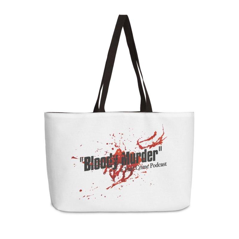 Bloody Murder Bleeding Logo Black Accessories Weekender Bag Bag by Bloody Murder's Artist Shop
