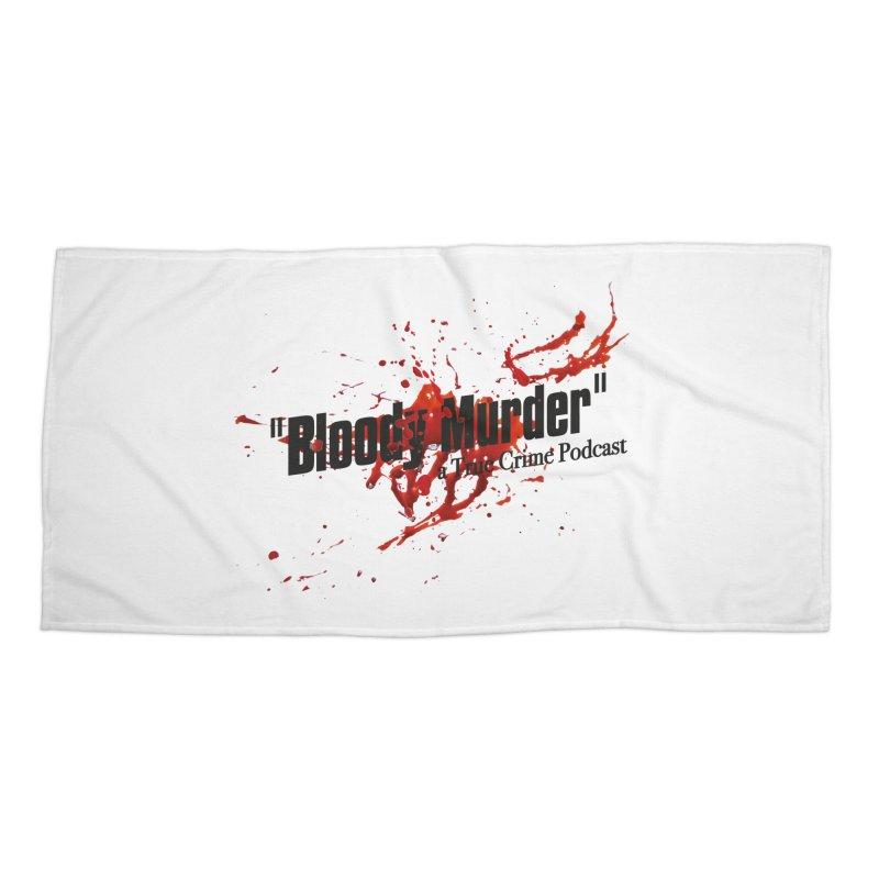 Bloody Murder Bleeding Logo Black Accessories Beach Towel by bloodymurder's Artist Shop