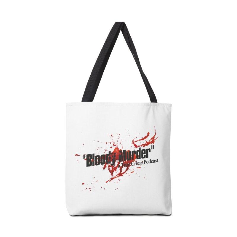 Bloody Murder Bleeding Logo Black Accessories Bag by bloodymurder's Artist Shop