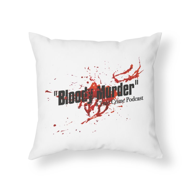 Bloody Murder Bleeding Logo Black Home Throw Pillow by bloodymurder's Artist Shop