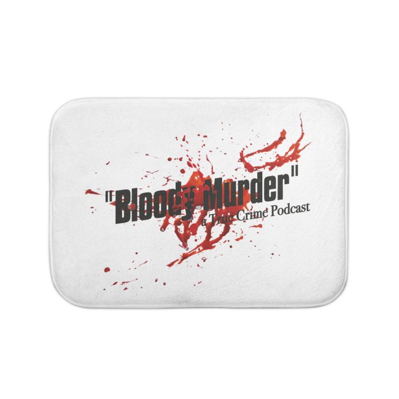 Bloody Murder Bleeding Logo Black Home Bath Mat by bloodymurder's Artist Shop