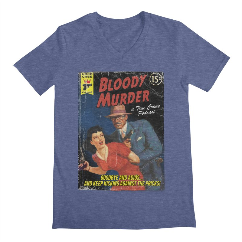 Bloody Murder Pulp Novel Men's V-Neck by bloodymurder's Artist Shop