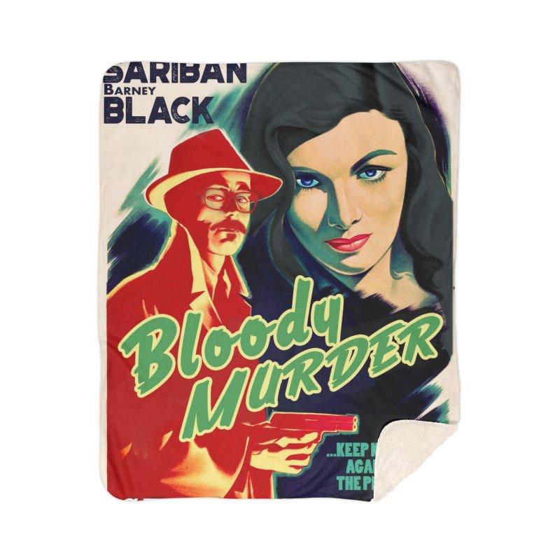 Film Noir Bloody Murder Home Blanket by Bloody Murder's Artist Shop