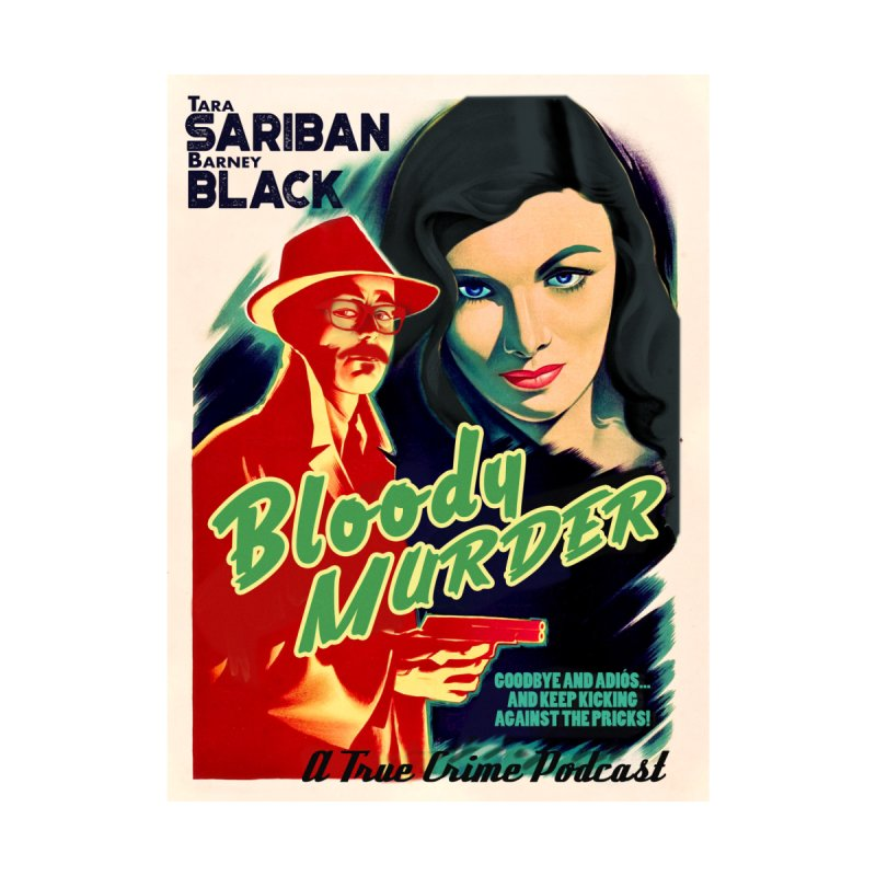 Film Noir Bloody Murder Blue Eyes Kids T-Shirt by Bloody Murder's Artist Shop