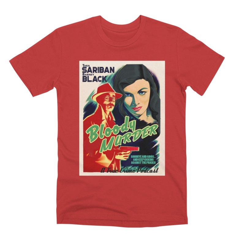 Film Noir Bloody Murder Blue Eyes Men's Premium T-Shirt by Bloody Murder's Artist Shop