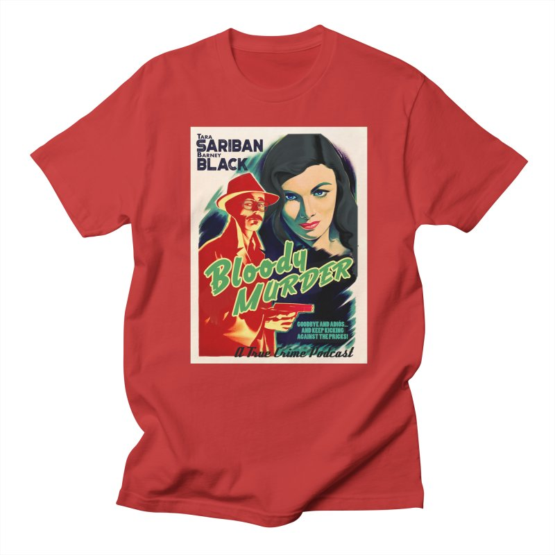 Film Noir Bloody Murder Blue Eyes Men's Regular T-Shirt by Bloody Murder's Artist Shop