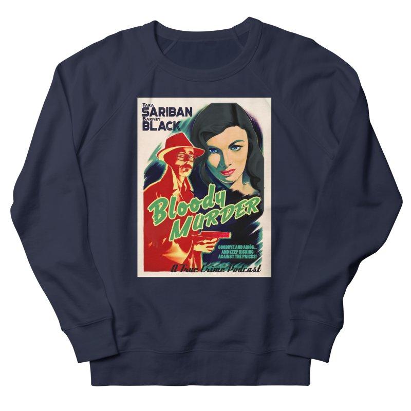 Film Noir Bloody Murder Blue Eyes Men's French Terry Sweatshirt by bloodymurder's Artist Shop