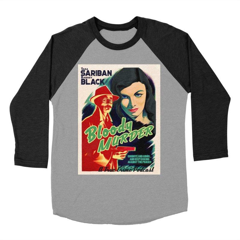 Film Noir Bloody Murder Blue Eyes Women's Baseball Triblend Longsleeve T-Shirt by Bloody Murder's Artist Shop