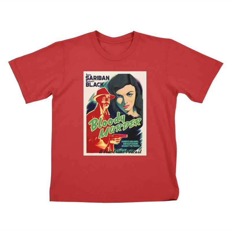 Film Noir Bloody Murder Blue Eyes Kids T-Shirt by Bloody Murder's Artist Shop