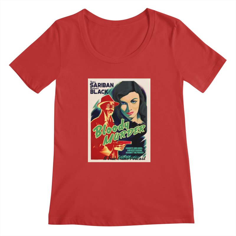 Film Noir Bloody Murder Blue Eyes Women's Regular Scoop Neck by bloodymurder's Artist Shop