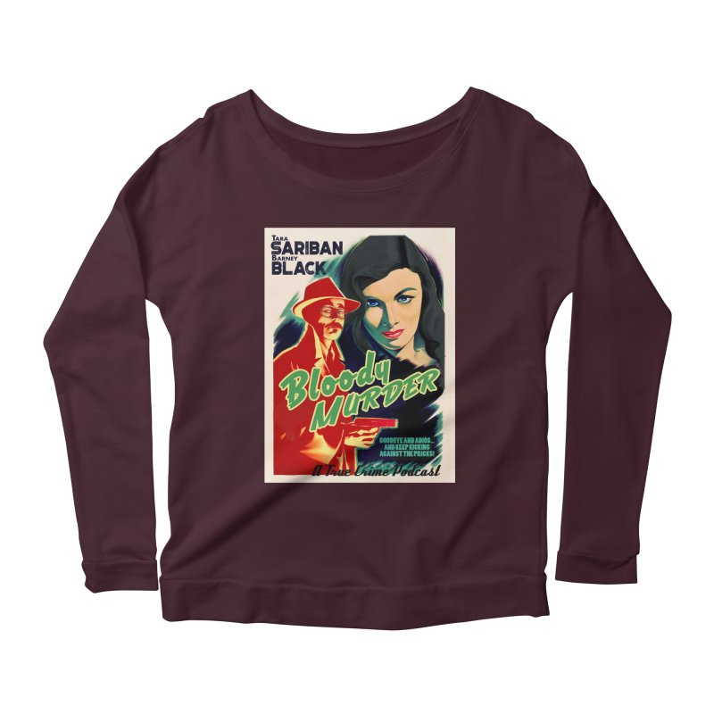 Film Noir Bloody Murder Blue Eyes Women's Longsleeve Scoopneck  by bloodymurder's Artist Shop