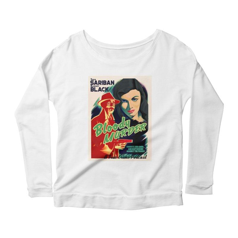 Film Noir Bloody Murder Blue Eyes Women's Scoop Neck Longsleeve T-Shirt by bloodymurder's Artist Shop