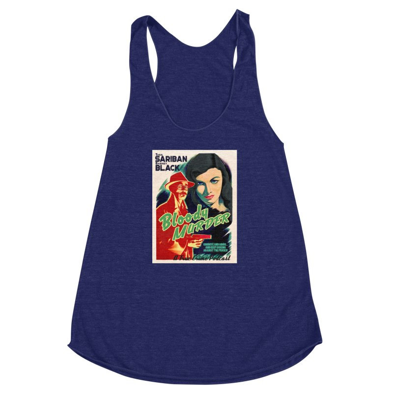 Film Noir Bloody Murder Blue Eyes Women's Racerback Triblend Tank by Bloody Murder's Artist Shop