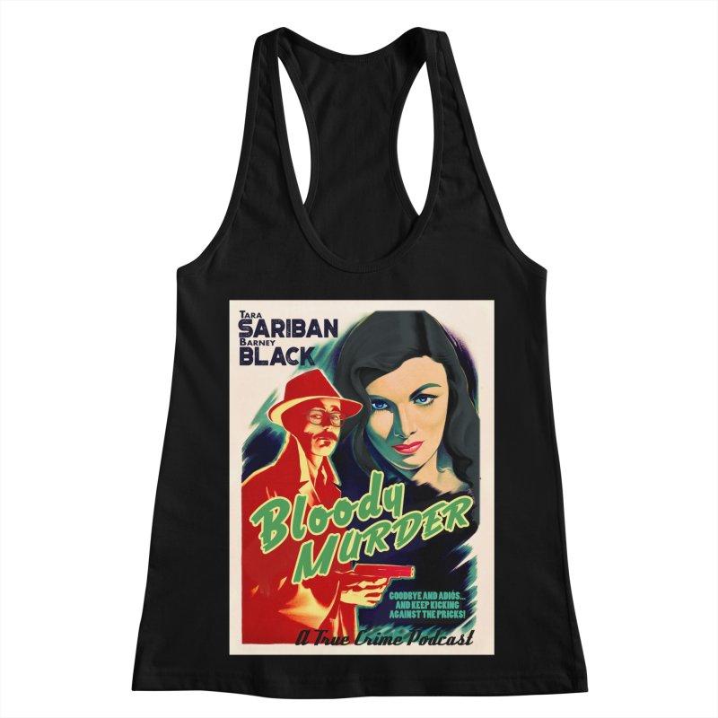 Film Noir Bloody Murder Blue Eyes Women's Racerback Tank by Bloody Murder's Artist Shop